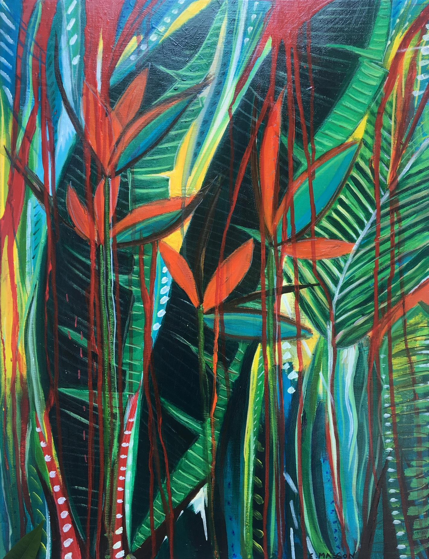 Oiseau du paradis dans la jungle